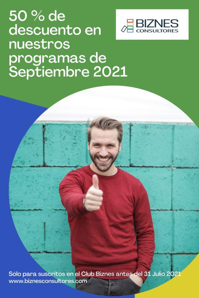 50% programas septiembre